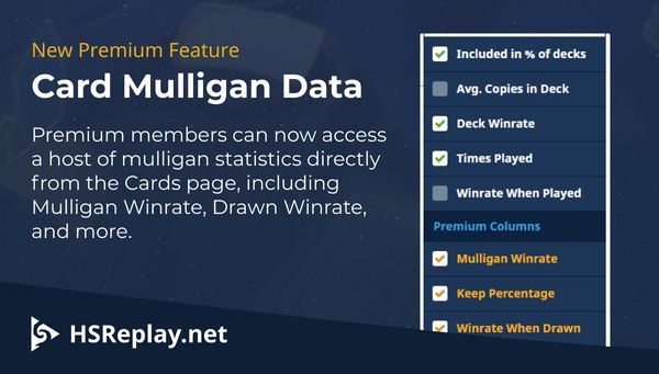 New Premium Feature – Card Mulligan Data